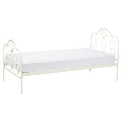 Florence Metal Bed Cream Single