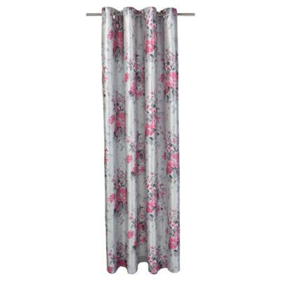 Tesco Vintage Floral Print lined eyelet Curtains W162xL229cm (64x90