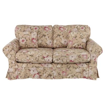 Louisa Loose Cover Only for Sofa Bed, Floral Brown