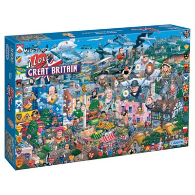 Gibsons I Love Great Britain 1000-Piece Jigsaw Puzzle