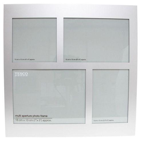 Tesco Aluminium Multi Profile Frame Silver