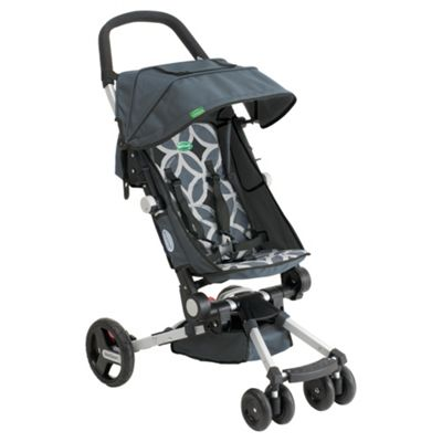 Easy Fold Layback Pushchair, Grey & Black