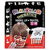 Playcolor Basic Make Up Pocket 5g + Textil One 10g Face Paint Stick (Pirate Set)