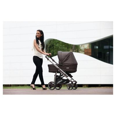 Bebecar Act chrome Combination Pram, Bronze Velvet