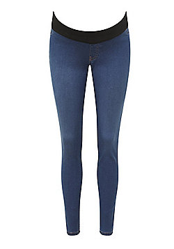 F&F Under-Bump Maternity Jeggings - Indigo Wash