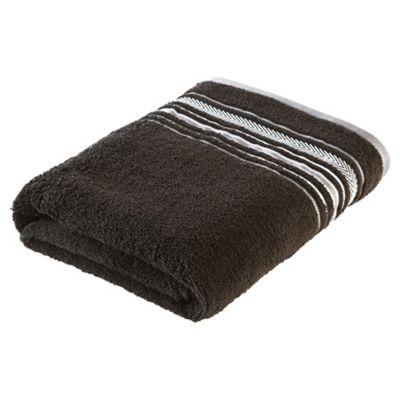 Tesco Linear Bath Sheet Black