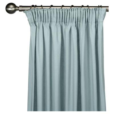 Tesco Plain canvas Lined pencil pleat Curtains W112xL183cm (44x72