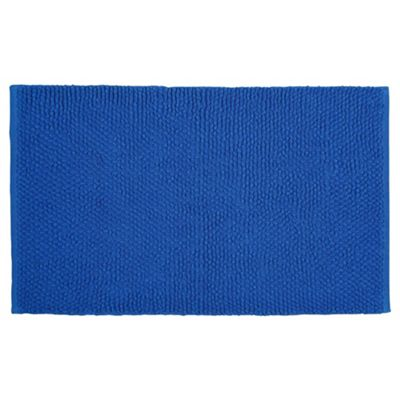 Tesco Chenille Loop Mat Electric Blue