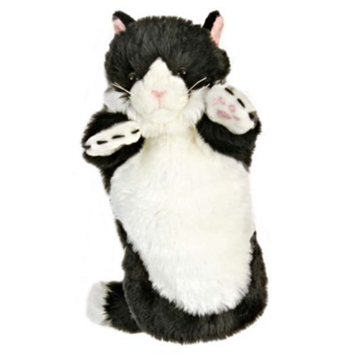 The Puppet Company Long Sleeved Cat Puppet Black/White