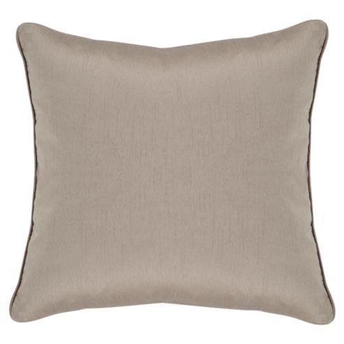 Tesco Faux Silk Cushion, Mocha