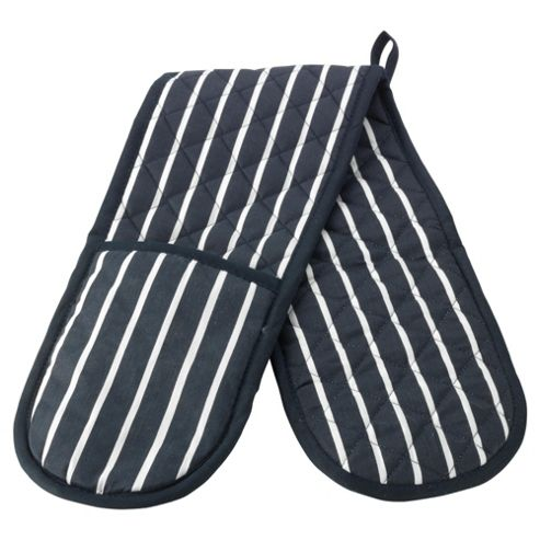 Tesco butcher's stripe double oven glove