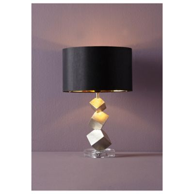 Tesco Lighting Alexis Table Lamp Gold/Black