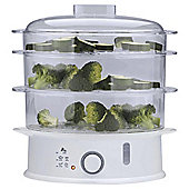 Tesco ST11 3 Tier Steamer - White