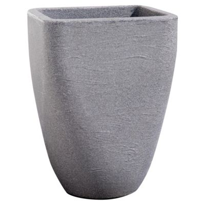 Large Granite Effect Square Top Round Base Planter, 33cm