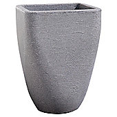 Strata Large Granite Effect Square Top Round Base Planter, 33cm