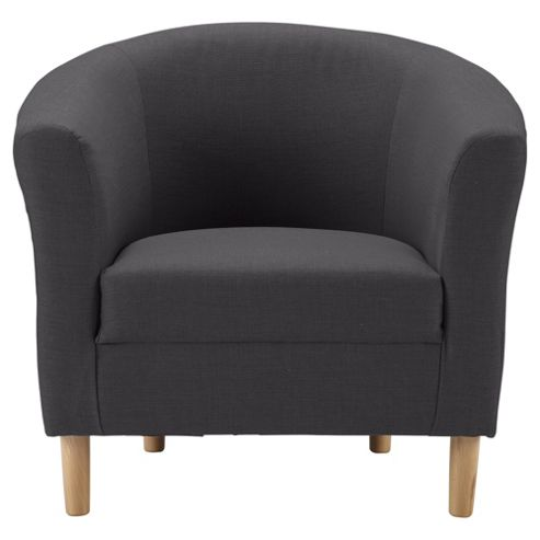 Tub Fabric Accent Chair, Charcoal