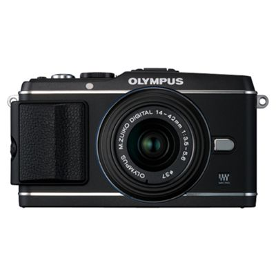 Olympus E-P3 Camera with 14-42mm II R Lens Kit (Black)