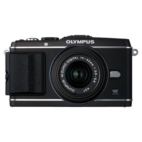 Olympus E-P3 Camera with 14-42mm II R Lens Kit (Black)