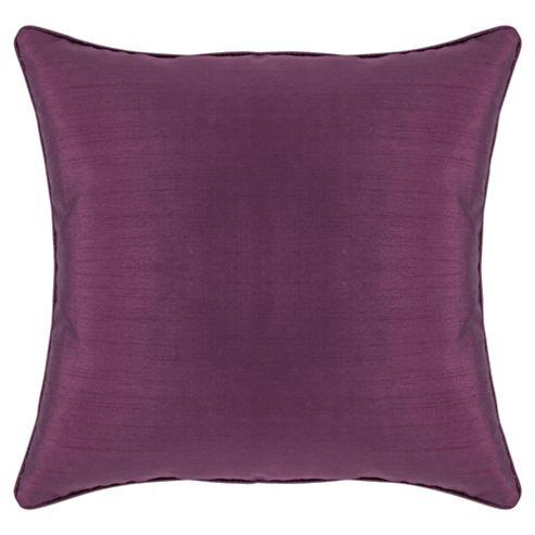 Tesco Faux Silk Cushion, Plum
