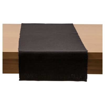 Tesco Ribbed Table Runner, Black