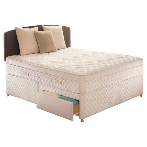 Sealy Double Divan Bed, Diamond Excellence, 2 Drawer