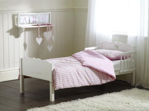 Saplings Heart Junior Bed, White