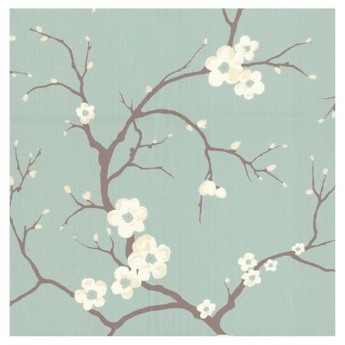 Dulux Blossom Wallpaper, Soft Jade