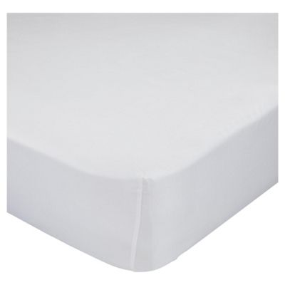 Finest Pima Cotton Fitted Sheet Super Kingsize White