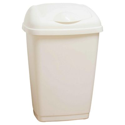 Tesco 50L White Kitchen Bin