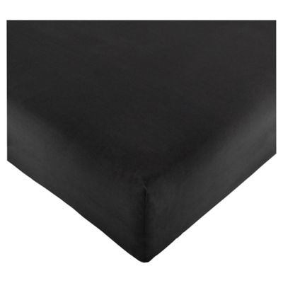 Tesco Deep Fitted Sheet Black, Single