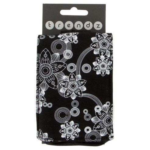 Trendz Phone Pouch Universal Flowers Black