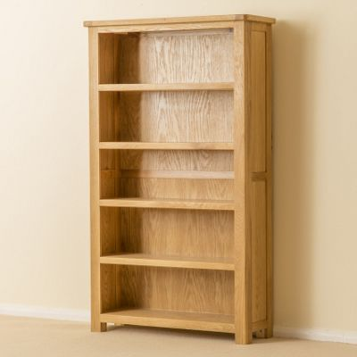 Roseland Oak Bookcase - Medium Bookcase - Waxed Oak
