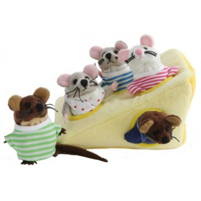 The Puppet Company Mouse Family in Cheese Puppet