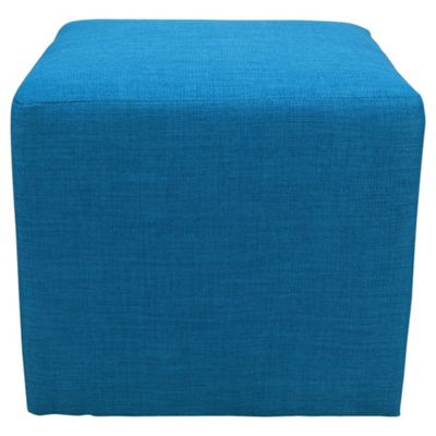 Stanza Fabric Cube / Foot stool Teal