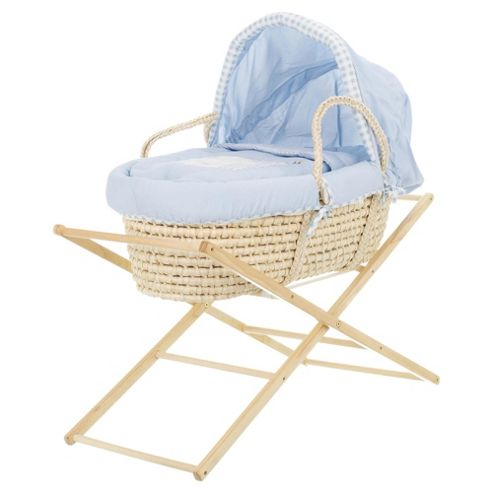 Obaby B is for Bear Moses Basket with Stand, Blue