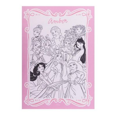 Disney Princess Personalised Colouring Poster