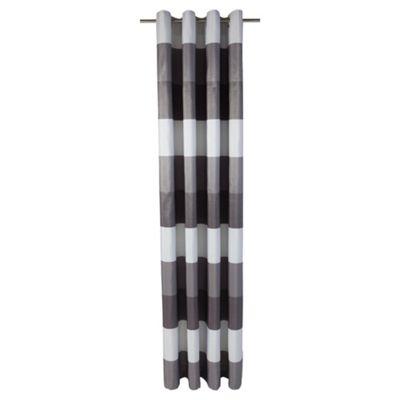 Tesco Stripe Taffetta lined eyelet Curtains W163xL137cm (64x54