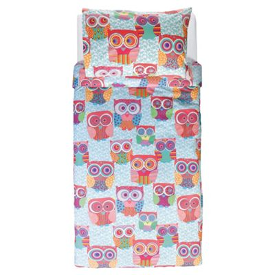 Tesco Kids Owl Single Duvet Cover Set