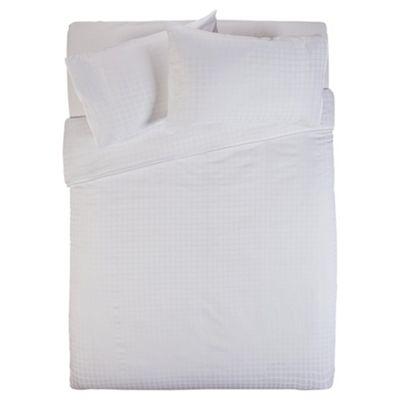 Finest Pima Cotton Checked Duvet Set Kingsize