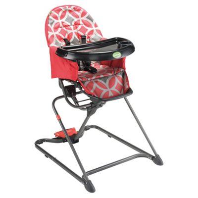 Quicksmart Easy Fold Highchair, Red
