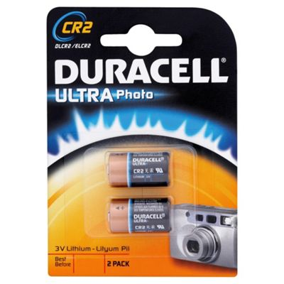 buy duracell ultra photo 2 pack cr2 3v lithium batteries from our batteries range tesco. Black Bedroom Furniture Sets. Home Design Ideas