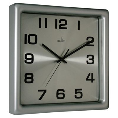 Acctim Lido Wall Clock Silver