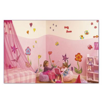 FunToSee Funky Flowers Wall Stickers Room Make-Over Kit