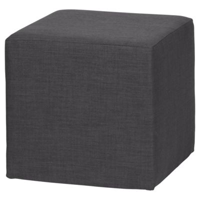 Stanza Fabric Cube / Foot stool, Charcoal