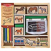Melissa & Doug Wooden Horses Stamp Set