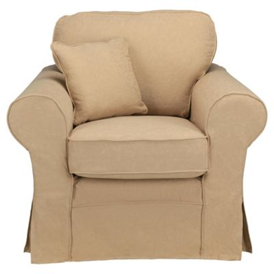 Louisa Armchair with Removable Jaquard Cover, Camel