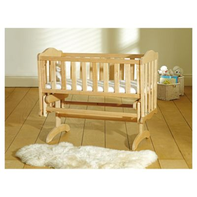 Glider Crib + Mattress - natural