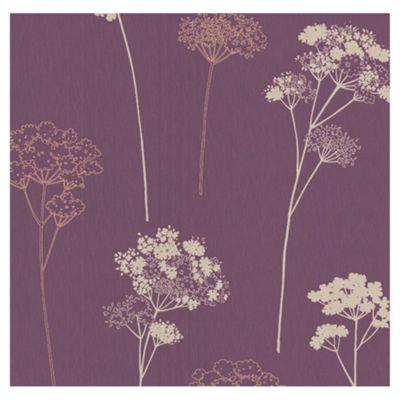 Dulux Meadowsweet Wallpaper, Plum