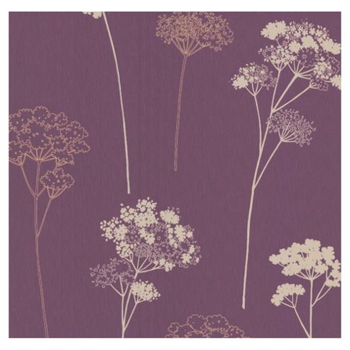 Dulux Meadowsweet Wallpaper, Plum