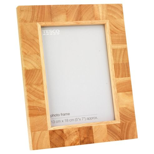 Tesco Light Wood Block Frame 5x7